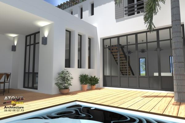 2 logements neufs sur une parcelle en indivision Sauveterre 30 Atoutplans- (1)