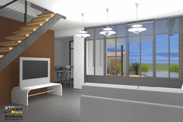 2 logements neufs sur une parcelle en indivision Sauveterre 30 Atoutplans- (2)