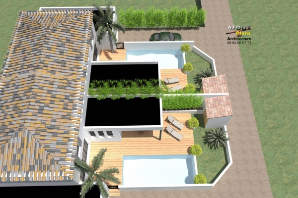 2 logements neufs sur une parcelle en indivision Sauveterre 30 Atoutplans- (5)