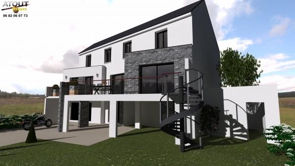 Maison de ville 180m² Paris- Atoutplans architecure (2)