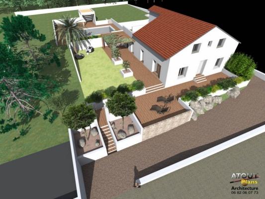 Aménagement paysager Chateauneuf de gadagne_ Atoutplans Architecture (1)