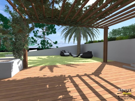 Espace piscine jardin for Implantation jardin paysager