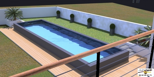 Piscine villeneuve les avignon travaux for Travaux piscine