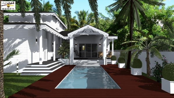 Maison coloniale traditionnelle atoutplans architecture - Plan de maison coloniale ...