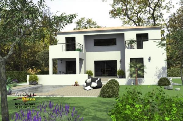 maison moderne orange 84 atoutplans architecture. Black Bedroom Furniture Sets. Home Design Ideas