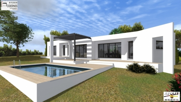 Maison contemporaine avec patio - Maison contemporaine solar solutions design ...