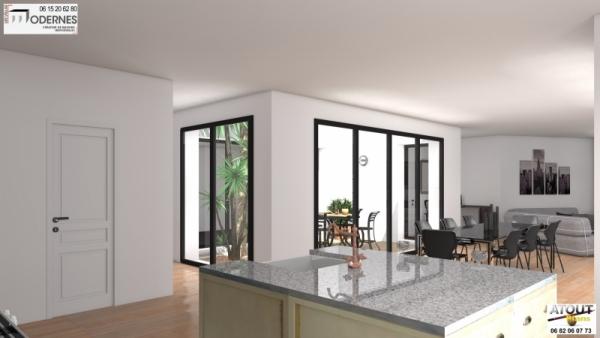 maison contemporaine avec patio. Black Bedroom Furniture Sets. Home Design Ideas