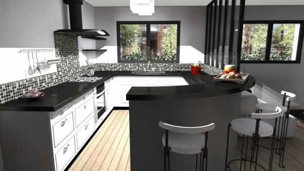 Maison urbaine avec patio Atoutplans Architecture (4)