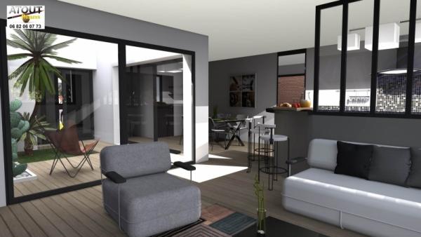 Maison de ville avec patio for Plans de maisons urbaines