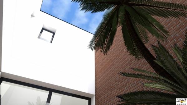 Maison urbaine avec patio Atoutplans Architecture (8)