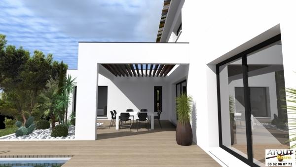 villa contemporaine 152 m lirac 30 atoutplans architecture. Black Bedroom Furniture Sets. Home Design Ideas
