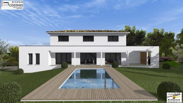 Villa contemporaine Lirac30 - Atoutplans Architecture 2015 (1)