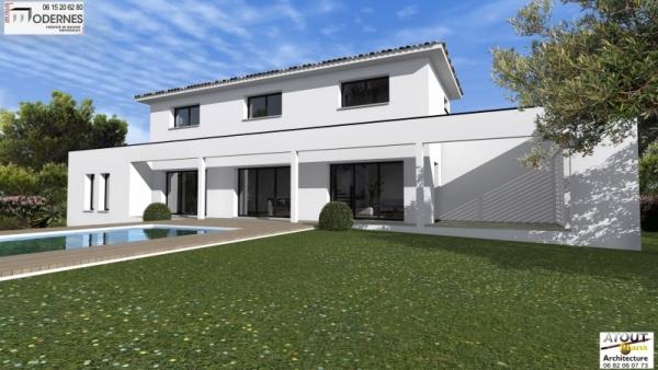 Villa contemporaine Lirac30 - Atoutplans Architecture 2015 (2)