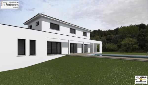 Villa contemporaine Lirac30 - Atoutplans Architecture 2015 (3)