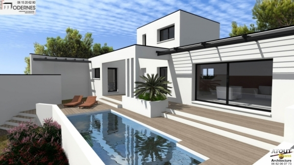 Best villa moderne rochefort du gard with construire dans for Conception villa moderne