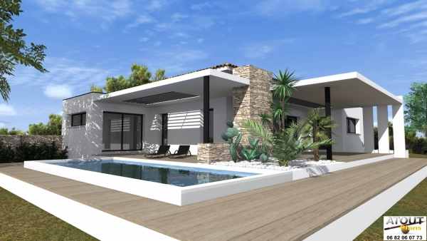 Plan moderne de villas for Villas modernes architecture