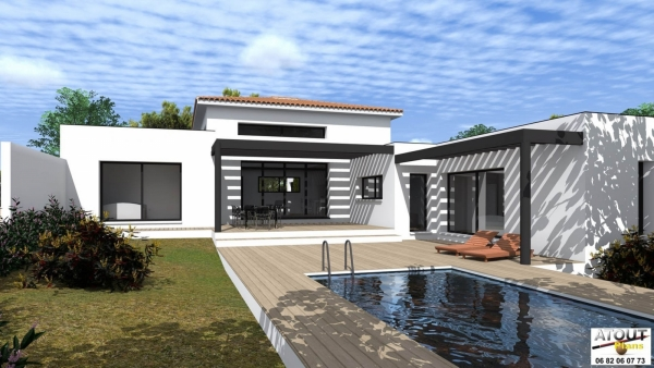 Permis de construire villeneuve lez avignon avec piscine for Villa mirleft avec piscine